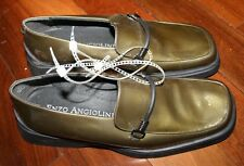 NEW WITHOUT TAGS~ENZO GREEN PATENT LEATHER ~ 7.5 MEDIUM  EXCEED ~ ITALY~