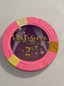HOLLYWOOD CASINO $2.50 Casino Chip LOUISIANA 3.99 Shipping