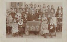 Österreich Schulklasse Jahr 1908 Echtfoto frankiert und beschrieben