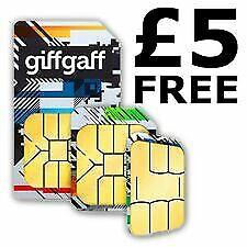 New Latest Giffgaff 80GB DATA Unli call text SIM card gifgaf sims £5 Free