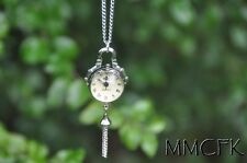 Harry Potter Steampunk Silver Ball Pocket Watch Necklace Perfect Gift