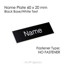 Name Plate Black/White NO FASTENER 6x2cm Label Sign Tag Plaque Badge Engraved