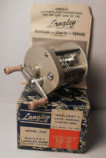 Vintage Langley Reelcast Model 500 with Box & Manual Baitcast Bass Fishing Reel