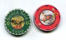 $5 & $25 Silver Spur Casino Cripple Creek Colorado Gambling Chips 1996-1997
