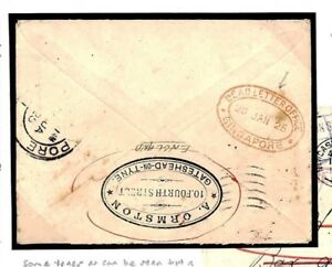 GB RETOUR Cover Forwarded *SINGAPORE DEAD LETTER* Oval PHILIPPINES 1925 U149