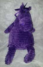 Jellycat Donkey Pony Horse Purple Ribbon Mane Tail Plush Animal Stripe Ribbed