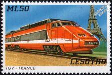 SNCF Train à Grande Vitesse (High Speed Train) TGV Paris-Lyons Train Stamp #4