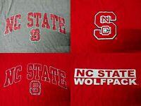 New Starters North Carolina State Wolfpack Logo Men's Short Sleeve T-Shirts