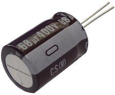 Condensateur électrolytique chimique 68µF 400V THT 105°C 10000h Ø18x25mm radial