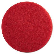 """""""Standard Floor Pads, 13-Inch Diameter, Red, 5/carton"""""""