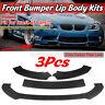 CARBON Front Bumper Lip Body Kit Spoiler Splitter Universal for BMW VW Mercedes