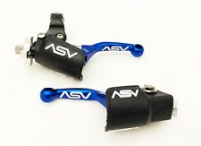 ASV Unbreakable F4 Blue Shorty Clutch Brake Levers Dust Covers YZ 125 250 96-00