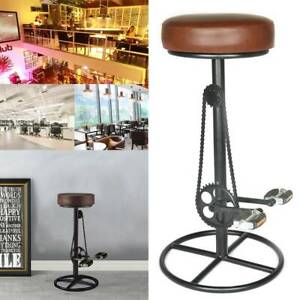 Vintage Retro Designer Kitchen Bicycle Pedal Leather Bar Stools Comfortable