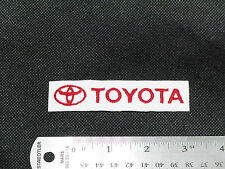 TOYOTA NAME WITH LOGO CAR BIKER FORMULA RACING MECHANIC WHITE PATCH -MADE IN USA