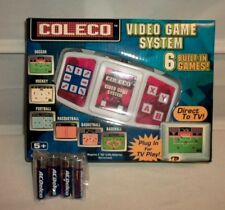 2005 Coleco Video Game System 6 Built-In Games + 4 AA Batteries NIB!