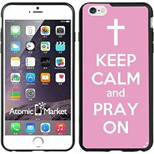 Pink Keep Calm and Pray On For Iphone 6 Plus 5.5 Inch Case Cover
