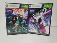 (Lot Of 2) Xbox 360 Kinect Dance Central 1 2  One Two