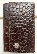 Authentic Versace Brown Leather 6 Ring Key Case Holder Made In Italy