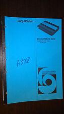 Bang & Olufsen Repair/Service Manual~BeoGram CD 3300 5141/5142/5143/5115 b&o