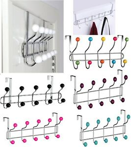 Over Door Hat Coat Hooks Rack Hanger Hangers Clothes Towel Organiser Home Bath