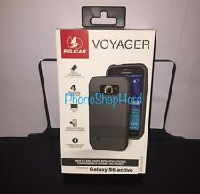 Pelican ProGear Voyager + Holster Case for Samsung Galaxy S6 Active Black NEW