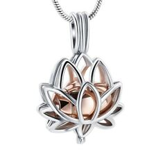 Lotus Flower Locket Cremation Ashes Necklace for cremation Ashes