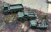 DINKY 623 ARMY WAGON ,1 ton cargo truck 641 Austin champ 674 job lot