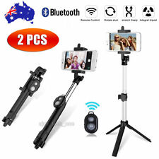 2X New Wireless Bluetooth Selfie Stick Monopod For Mobile Phone Samsung iPhone X