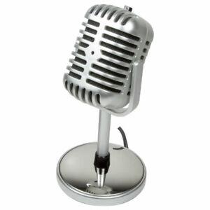 LogiLink Mikrofon Retro Style Computer PC Laptop Micro 3,5mm Klinke Microphone