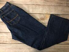 C.E. SCHMIDT Workwear Women's 12 x 34 Flannel Lined Jeans Blue w Pink Denim