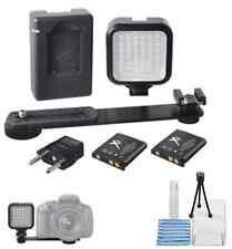 MINI PORTABLE LED VIDEO LIGHT KIT WITH BATTERIES & CHARGER -FOR ALL CANON DSLR