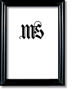 Black Solid Wood Frame for Picture/Photo/Poster/Diploma, #601