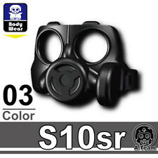 S10SR (W177) Army Gas Mask compatible with toy brick minifigures
