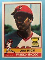 1976 Topps Baseball Card #340 Jim Rice Boston Red Sox
