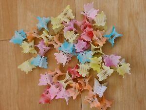 36 Pastel Mini Plastic Butterfly Hair Clips Hair Accessories cute / Kawaii