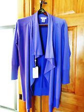 NEW $800 Gran Sasso Italian Wool Cape Caped Jacket Womens W Size S Purple L@@K!