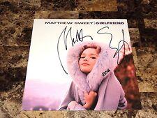 Matthew Sweet Rare Signed Vinyl LP Record Girlfriend Reissue + Photo Classic Pop