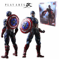 Marvel Universe Variant Play Arts Kai Captain America Collection Action Figures