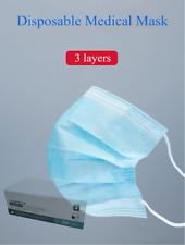 MNS Atemschutz 3lagig Vlieseinlage Nasenbügel Praxismaske 50 Stück Einwegmasken