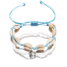 Chain Sea Turtles Anklets Bracelet Jewelry Beach Natural Beads Rope Shell Foot