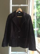•Capture• Suede Leather Blazer Coat Jacket Size 10 S As New