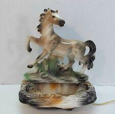 Vintage Proud Prancing Horse TV Lamp Lane & Co ©1959 Van Nuys California Pottery