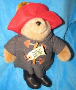 "VINTAGE PADDINGTON RARE LE 15"" TEDDY BEAR EDEN TOYS 1975 PERU ENGLAND HAT BOOTS"