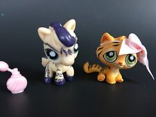 Littlest Pet Shop LPS Horse 1266 & Orange Tiger 1267 Rare Nintendo DS Exclusive