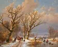 Winter Morning in Svolvaer by Gunnar Berg Mountain Boats Sea 8x10 Print 1441