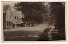MAIN ST. Unity, Maine ME Antique RPPC Real Photo Postcard