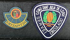 Spain Basque Ertzaintza Police & Comu Sant Julia De Loria Police Patches
