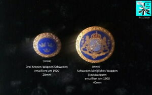 Schweden königliches Wappen Drei-Kronen-Wappen Staatswappen Broschen AUSSUCHEN
