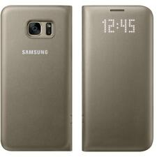 100 Genuine Samsung Galaxy S7 Flip Wallet Card Holder LED View Case Cover Gold