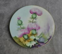 J P L Jean Pouyat Limoges France Hand Painted Signed Wildglowers 8.5""